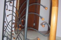 Метален парапет с дървени елемнти 9025