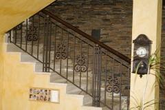 Интериорен парапет с орнаменти от ковано желязо  9043