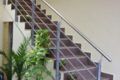Парапет за стълбище от метал и инокс 9060