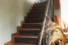 Парапет за стълбище от ковано желязо 9002