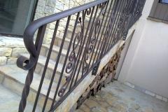 Парапет с орнаменти за външно стълбище 8011