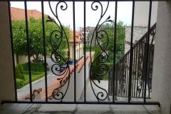 Външна преграда от ковано желязо за площадка 8008