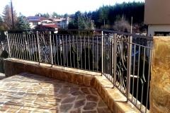Преграден парапет за тераса от метални орнаменти 8018