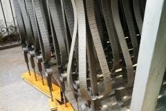 Ъглова колона на парапет от ковано желязо 8054